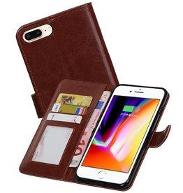 iPhone 7 / 8 Plus Portemonnee hoesje booktype wallet case Bruin