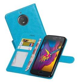 Moto G5s Portemonnee hoesje booktype wallet case Turquoise