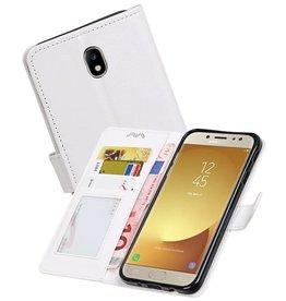 Galaxy J7 2017 Portemonnee hoesje booktype wallet case Wit