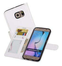 Galaxy S6 Portemonnee hoesje booktype wallet case Wit