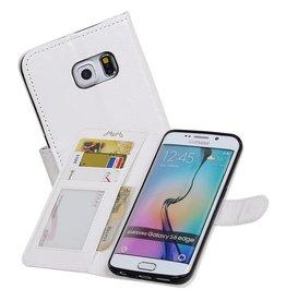 Galaxy S6 Edge Portemonnee hoesje booktype wallet case Wit