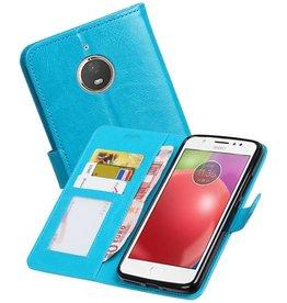 Moto E4 Plus Portemonnee hoesje booktype wallet Turquoise