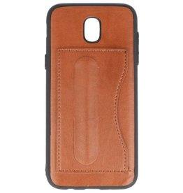 Standing TPU Wallet Case voor Galaxy J5 2017 Bruin
