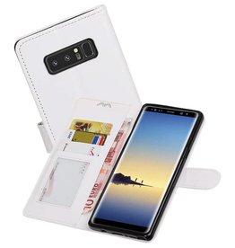 Galaxy Note 8 Portemonnee hoesje booktype wallet case Wit