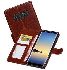 Galaxy Note 8 Portemonnee hoesje booktype wallet case Bruin