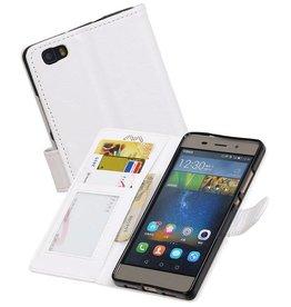 Huawei P8 Lite Portemonnee hoesje booktype wallet case Wit