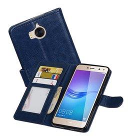 Huawei Y5 / Y6 2017 Portemonnee booktype wallet Donkerblauw