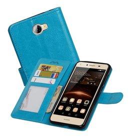Huawei Y5 II Portemonnee hoesje booktype wallet Turquoise