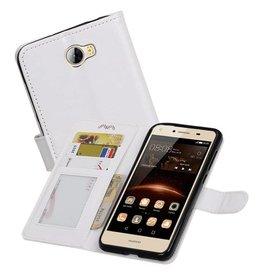 Huawei Y5 II Portemonnee hoesje booktype wallet case Wit