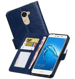 Huawei Y7 / Y7 Prime Portemonnee booktype wallet Donkerblauw