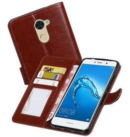 Huawei Y7 / Y7 Prime Portemonnee booktype wallet case Bruin