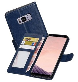 Galaxy S8 Plus Portemonnee hoes booktype wallet Donkerblauw