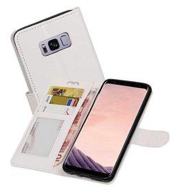 Galaxy S8 Plus Portemonnee hoesje booktype wallet case Wit