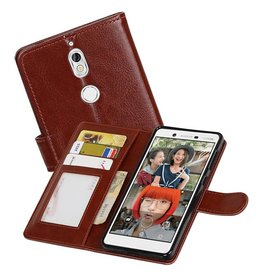 Nokia 7 Portemonnee hoesje booktype wallet case Bruin