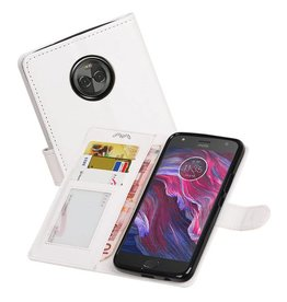 Moto X4 Portemonnee hoesje booktype wallet case Wit