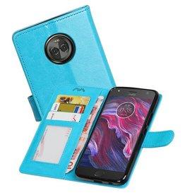Moto X4 Portemonnee hoesje booktype wallet case Turquoise