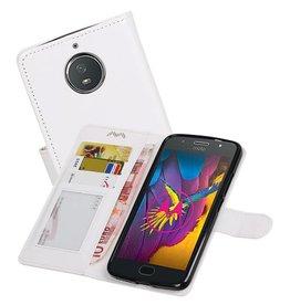 Moto G5s Portemonnee hoesje booktype wallet case Wit