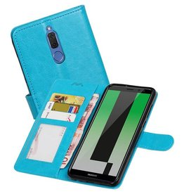 Huawei Mate 10 Lite Portemonnee hoesje booktype Turquoise