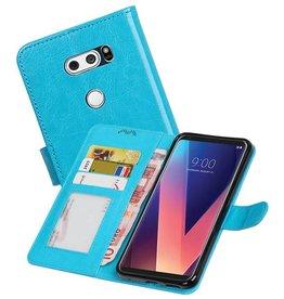 LG V30 Portemonnee hoesje booktype wallet case Turquoise