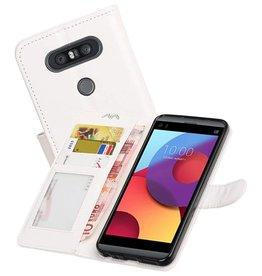 LG Q8 Portemonnee hoesje booktype wallet case Wit