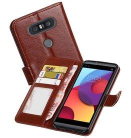 LG Q8 Portemonnee hoesje booktype wallet case Bruin