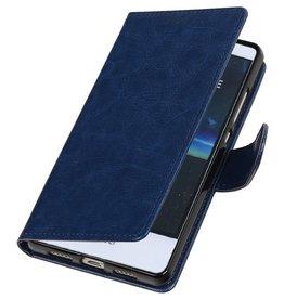 Huawei P9 Lite mini Portemonnee hoesje wallet case Donker Blauw