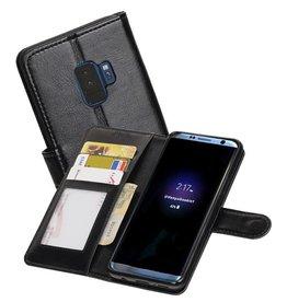 Galaxy S9 Portemonnee hoesje booktype wallet case Zwart