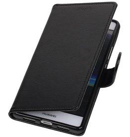 Huawei P9 Lite mini Portemonnee hoesje wallet case Zwart