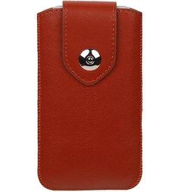 Luxe Smartphone Pouch voor iPhone 6 / S Bruin