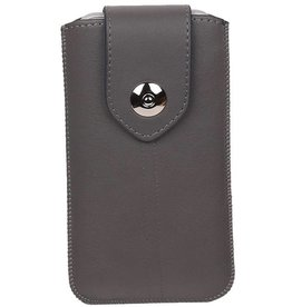 Luxe Smartphone Pouch Maat S ( Galaxy S2 i9100 )  Grijs