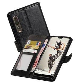 Huawei P20 Pro Portemonnee hoesje booktype wallet Zwart