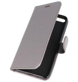 Wallet Cases Hoesje voor Huawei Honor 7X Grijs