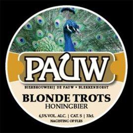 Pauw Speciaalbier 75 cl Pauw Blonde Trots / Honingbier
