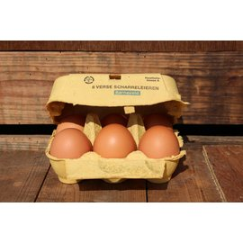 Van de Vis Eierspecialist - Échte Barneveldse scharreleieren Echte Barneveldse eieren Klasse M 6 stuks