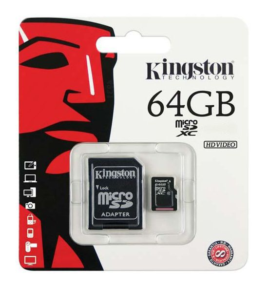 micro sd card 64gb kingston. Black Bedroom Furniture Sets. Home Design Ideas