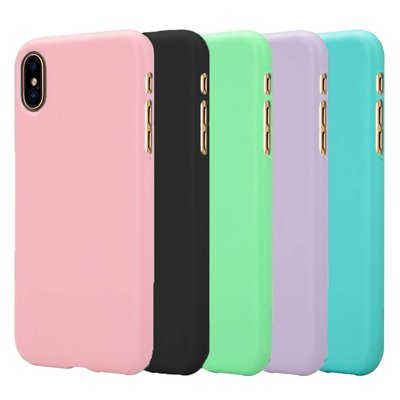 Candy Color Matte Silicone Back Cover IPhone X