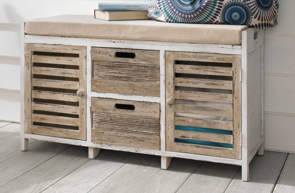 Sitz kommode maritim paulownia holz wohnambiente shop for Holz kommode