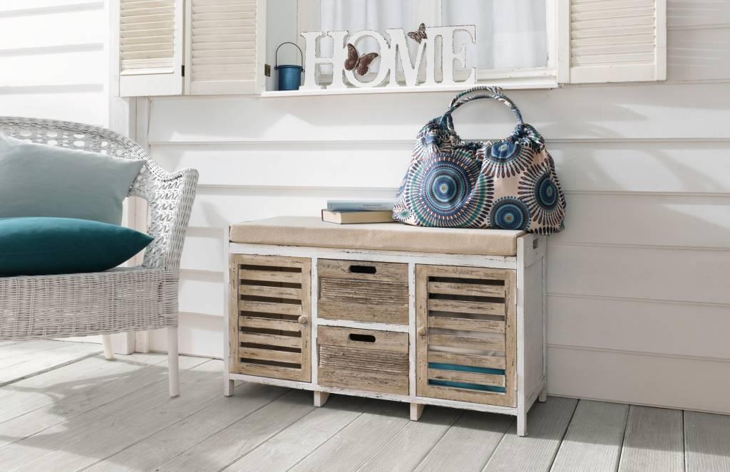 sitz kommode maritim paulownia holz wohnambiente shop. Black Bedroom Furniture Sets. Home Design Ideas