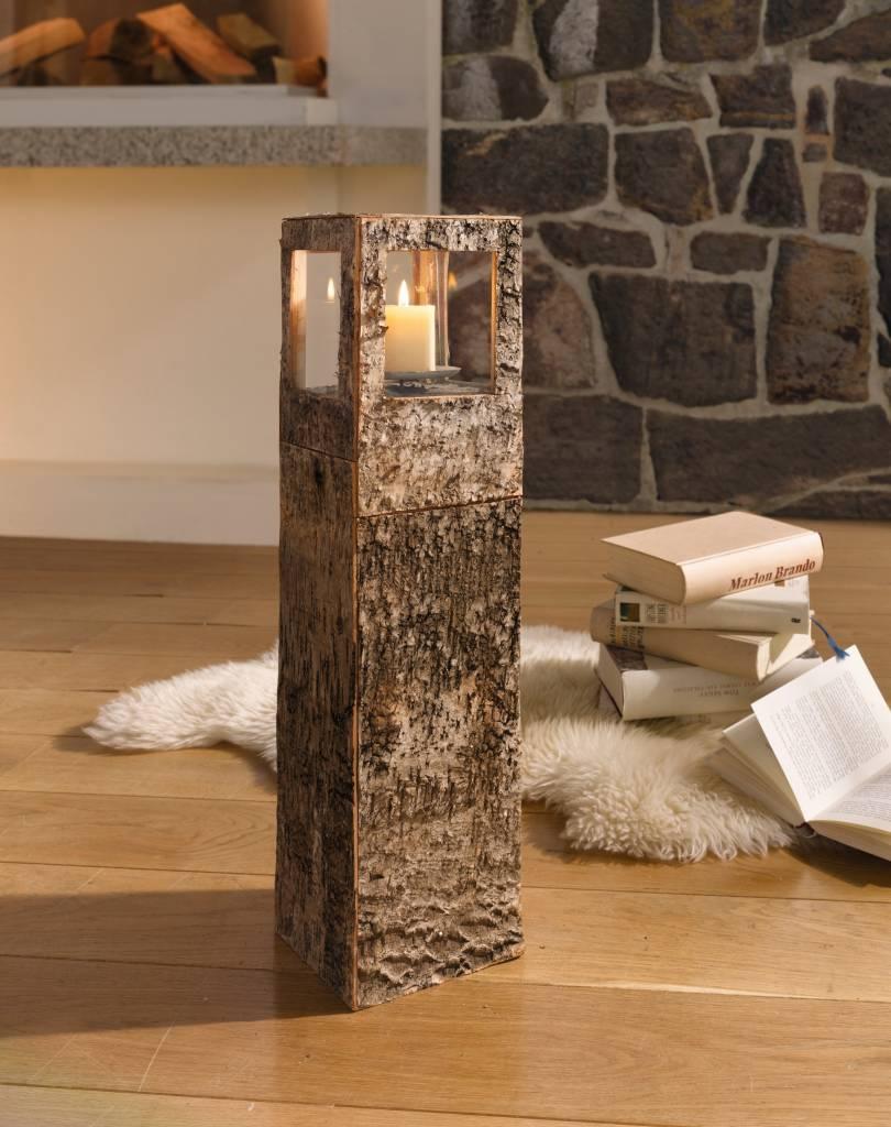 windlicht turm birkenrinde 59 cm nat rlich modernes design wohnambiente shop. Black Bedroom Furniture Sets. Home Design Ideas