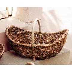 Tragekorb mit Holzbügel, mittelgroß