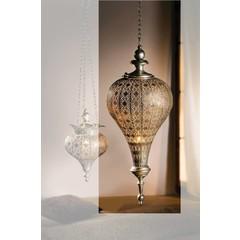 Orientalische Hängelaterne, antiksilbern - groß