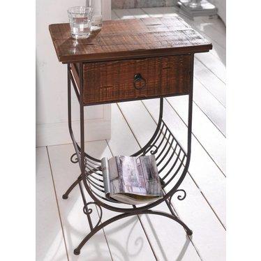 beistelltisch im kolonialstil 68 cm hoch f r individualisten wohnambiente shop. Black Bedroom Furniture Sets. Home Design Ideas