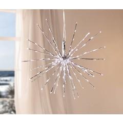 LED-Weihnachtsstern, silbern