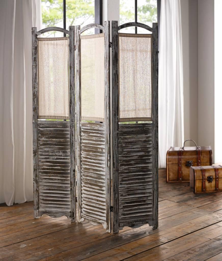 paravent loft shabby chic 122 x 170 cm wohnambiente shop. Black Bedroom Furniture Sets. Home Design Ideas