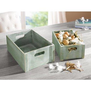 holzkisten set green box wohnambiente shop. Black Bedroom Furniture Sets. Home Design Ideas