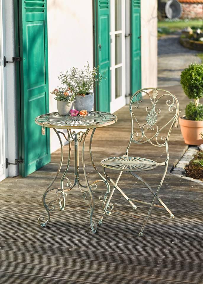 Metall tisch nostalgie 58 cm wohnambiente shop for Gartenlaternen dekorieren