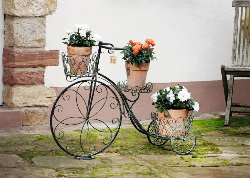 blumenst nder fahrrad 98 x 30 x 71 cm wohnambiente shop. Black Bedroom Furniture Sets. Home Design Ideas