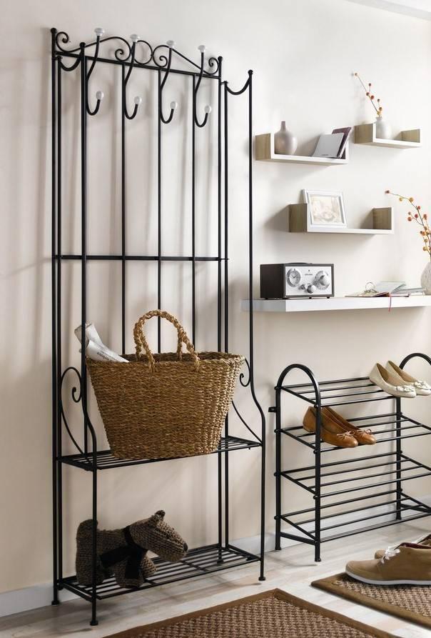 standgarderobe mit schuhregal metall wohnambiente shop. Black Bedroom Furniture Sets. Home Design Ideas