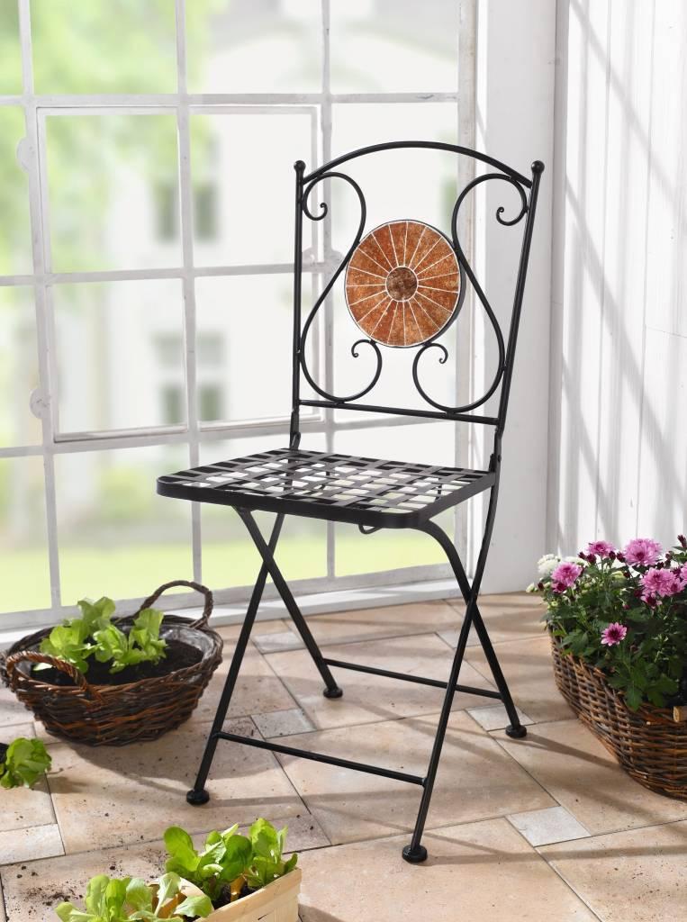 Balkonstuhl mosaik klappbar wohnambiente shop for Gartenlaternen dekorieren