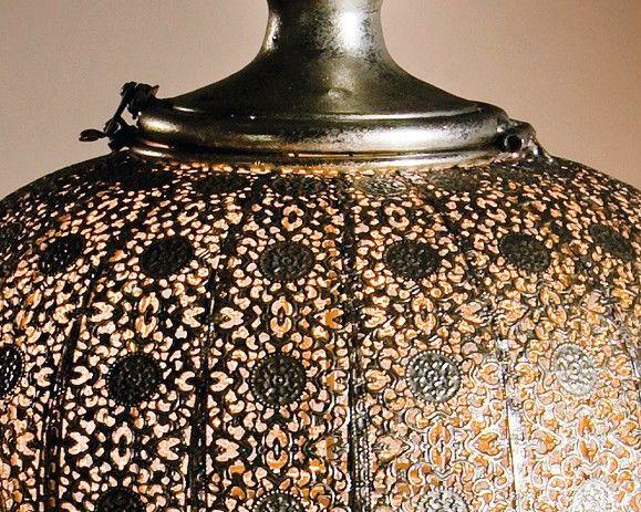 orientalische h ngelaterne antiksilbern 69 cm gro wohnambiente shop. Black Bedroom Furniture Sets. Home Design Ideas